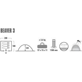 High Peak Beaver 3 Tienda de Campaña, gris